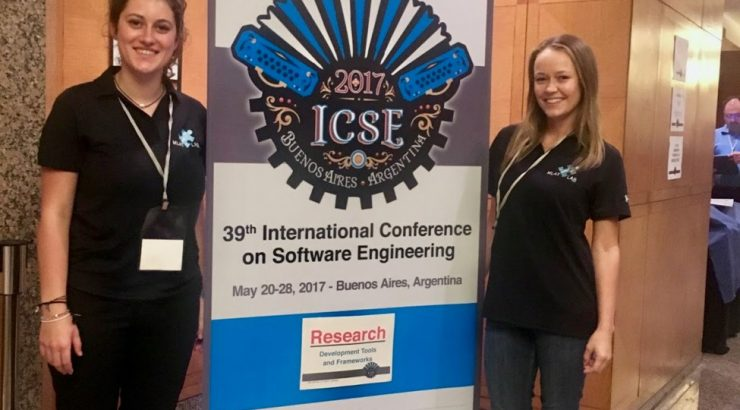 Christina Beradi and fellow Schmid student Adrienne Bergh at ICSE 2017.