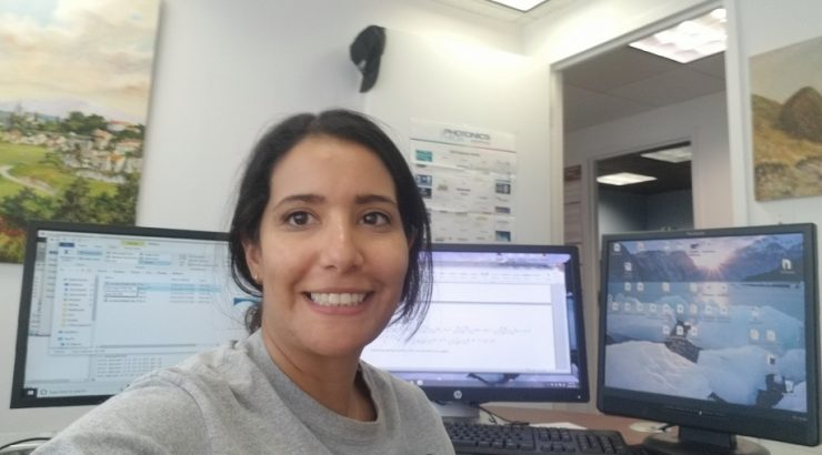 Iris Dorn at advanced physics laboratory