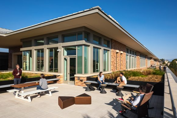 3rd floor patio of Keck Center