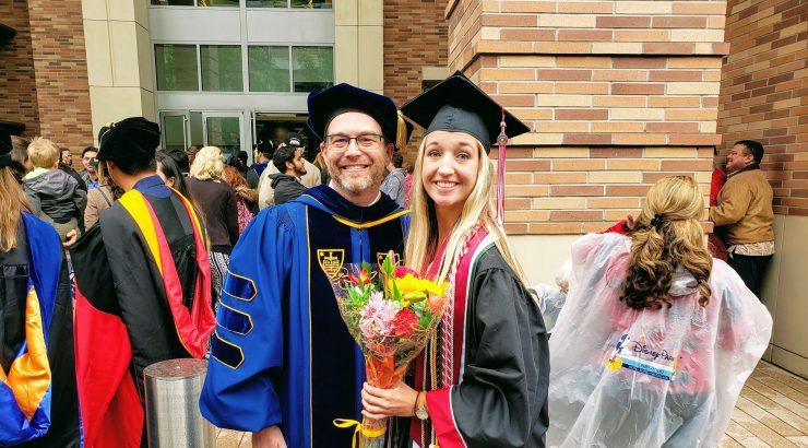 Jenny Gritton with Dr. Keller