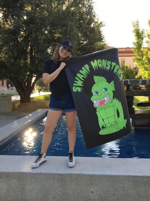 Jesse Rush with SwampMonsters Flag