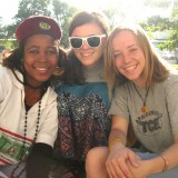 Laura Moss (center) in Mozambique
