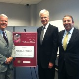 Wells Fargo visits The Bette and Wylie Aitken Family Violence Clinic