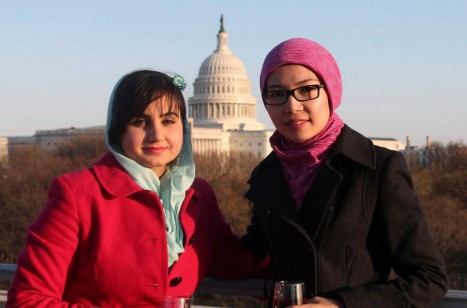 Shamsi and Munira visit Washington D.C. in April 2013 for Afghan scholars gathering.