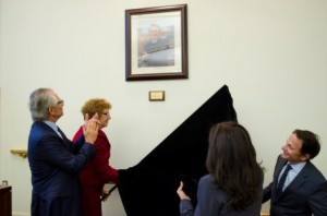 Unveiling the Frank J. Doti photograph and dedication plaque