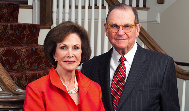 Dale E. Fowler (right) and his wife Sarah Ann