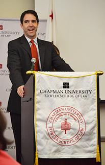 Robert Bobby Chesney speaks at Chapman University Fowler School of Law
