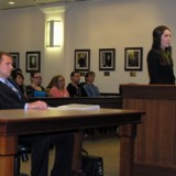 Student Lawyers in the courtroom