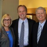 From left: Fowler Law  Associate Dean Jayne Kacer, Rutan & Tucker Managing Partner Steven A. Nichols, and Fowler Law Dean Tom Campbell.