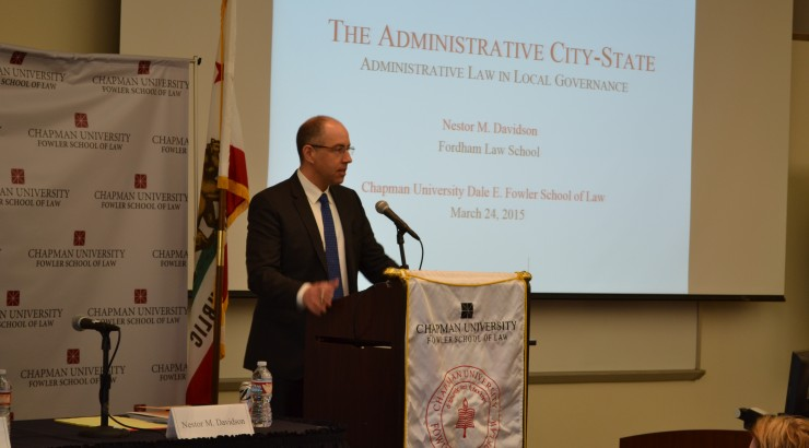 Fordham Academic Dean Discusses Administrative City-State