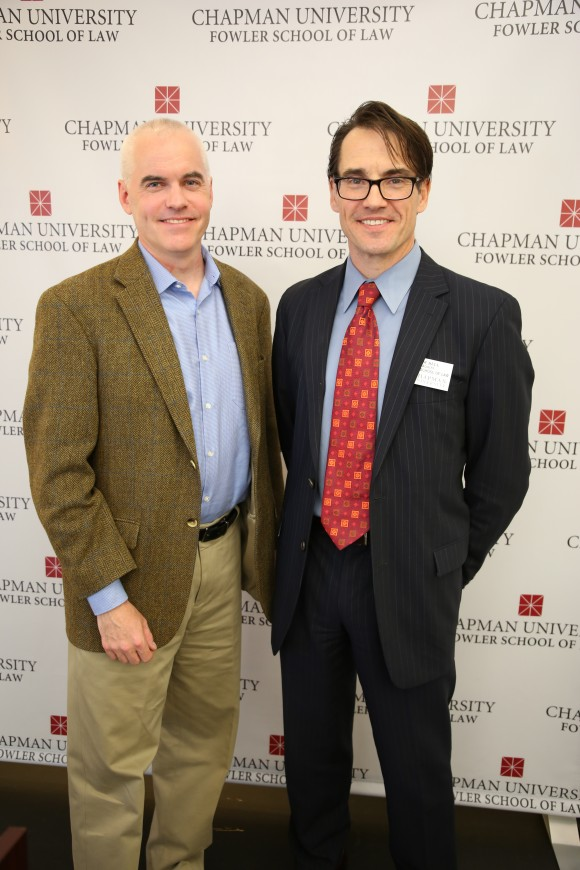 Dean James Gibson with Chapman Dialogue host