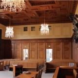 Nuremberg courtroom interior