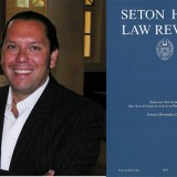 Ernesto Hernandez-Lopez and Seton Hall Law book cover