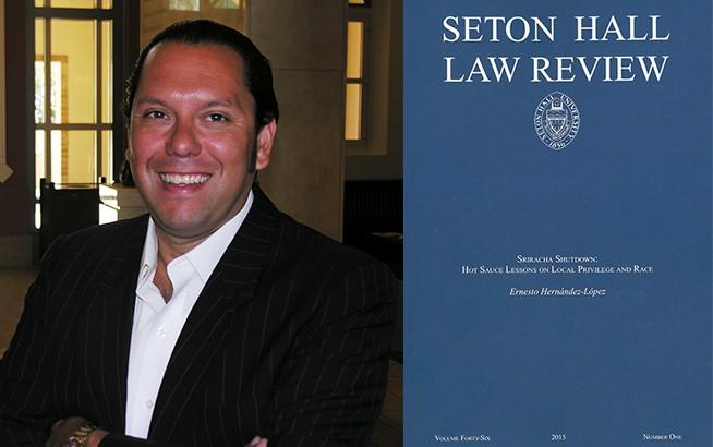 Ernesto Hernandez-Lopez and Seton Hall Law book cover
