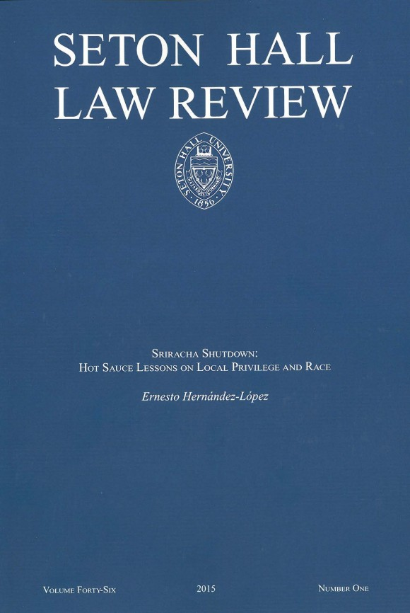 Seton Hall Law Review book cover