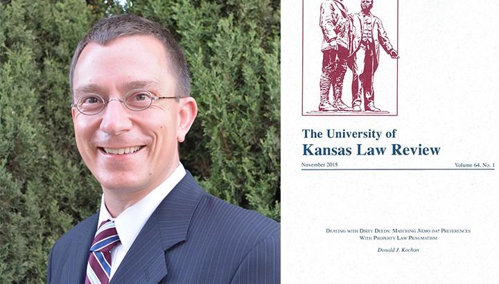 Associate Dean Donald Kochan headshot and The University of Kansas Law Review