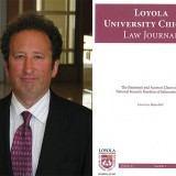 Lawrence Rosenthal headshot and Loyola University Chicago Law Journal book cover