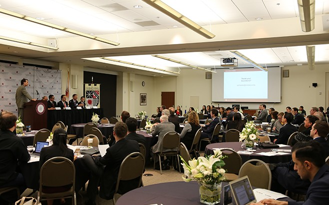 Chapman Law Review Symposium audience tables