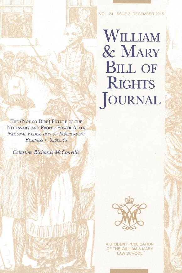 William and Mary Bill of Rights Journal cover