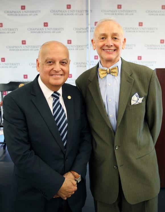 Justice Joubran with Fowler School of Law Professor Michael Bazyler
