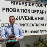 law students by Riverside County Probation Department sign