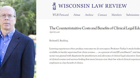 """Fowler School of Law Professor Richard Redding Publishes """"The Counterintuitive Costs and Benefits of Clinical Legal Education"""""""