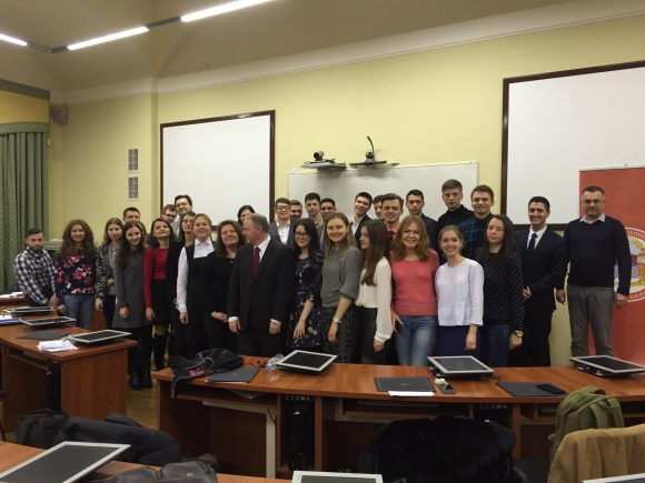 big group shot of Law School students