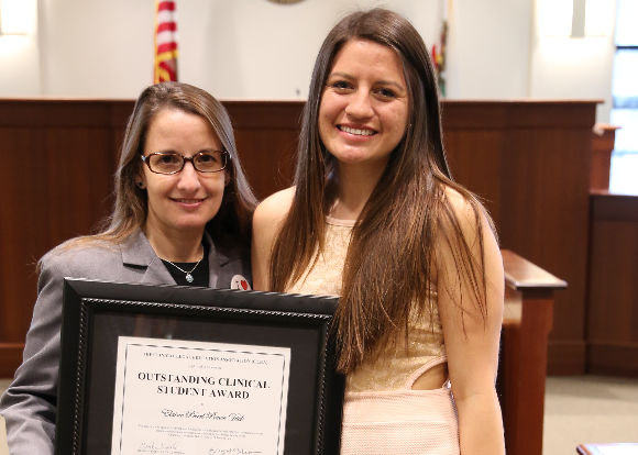 Recent Grad Recognized for Exceptional Clinic Work