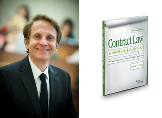 Frank Doti headshot and Contract Law book cover