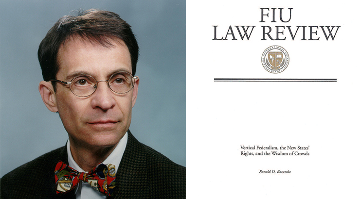 Ronald Rotunda with article cover