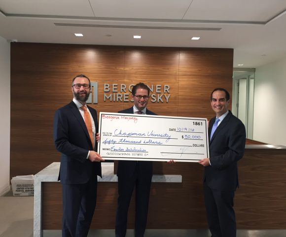 Bergener Mirejovsky Continues Generous Scholarship Support