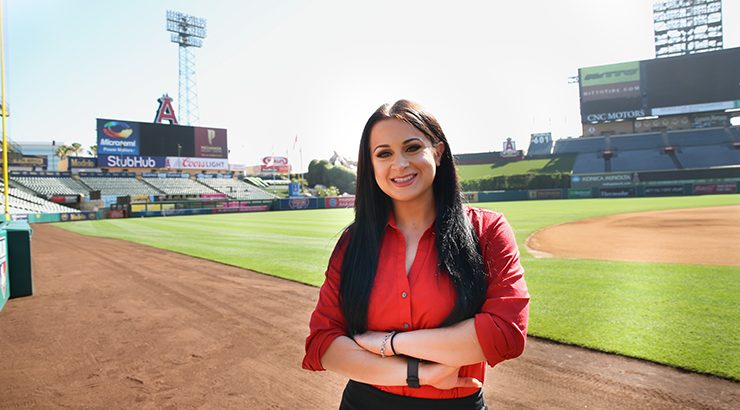 jennifer tedmori in angel stadium