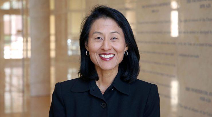Susanna Ripken inside law school lobby