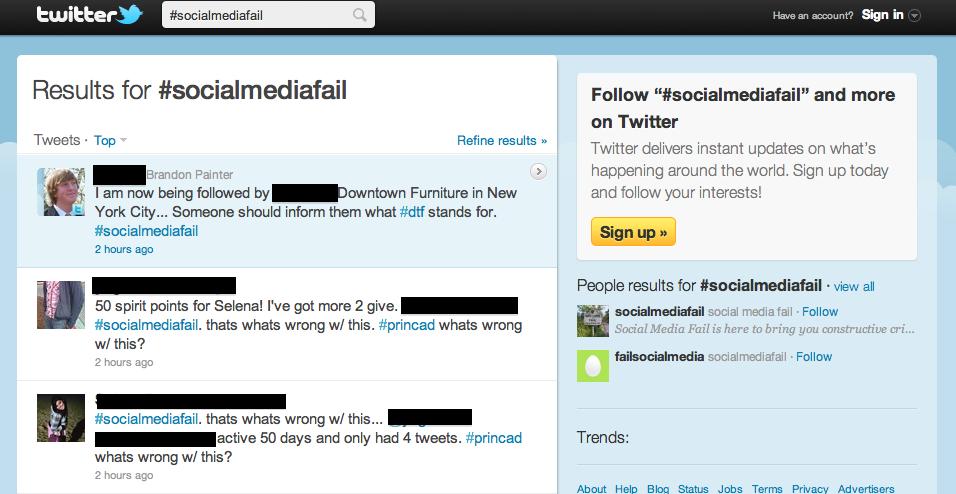 Censored version of SMFail screen grab