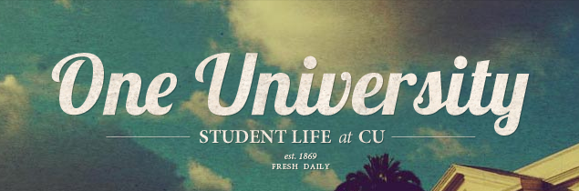 Student Life at CU banner