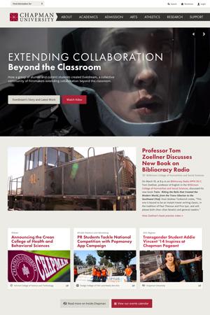 Screen shot of Chapman's website