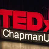 TEDxChapmanU sign