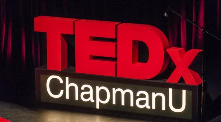 TEDxChapmanU sign