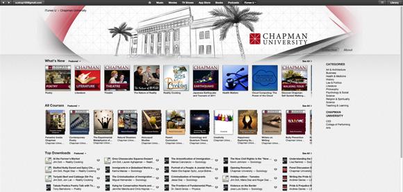 Screen shot of Chapman's YouTube channel
