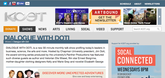 Screen shot of Dialogue with Doti story on KCET website