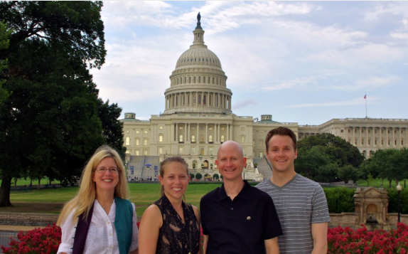 Chapman faculty in front of the Capitol Building in Washington D.C.