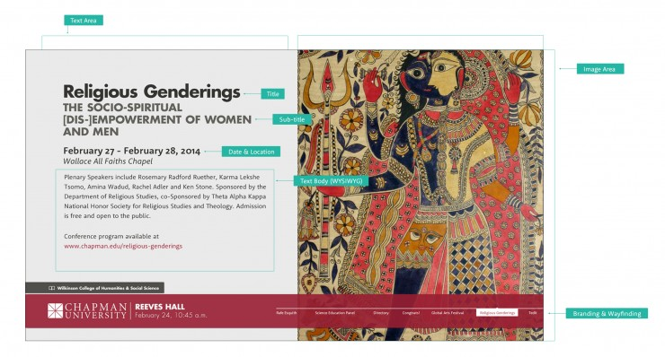 Screen shot of Religious Genderings event information