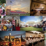 Collage of photos of events on campus