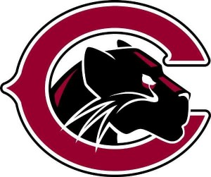 chapman university athletics logo - a C with a panther head inside