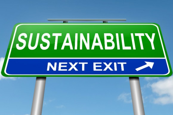 road sign that says sustainability next exit