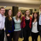 Group of young alumni at past CUYA event