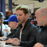 Roger Craig Smith '03 with voice actor Troy Baker