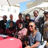 Chapman Black Student Union members and alumni gather for Homecoming.
