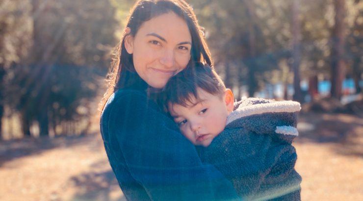 Sarah Buckly with son Finn