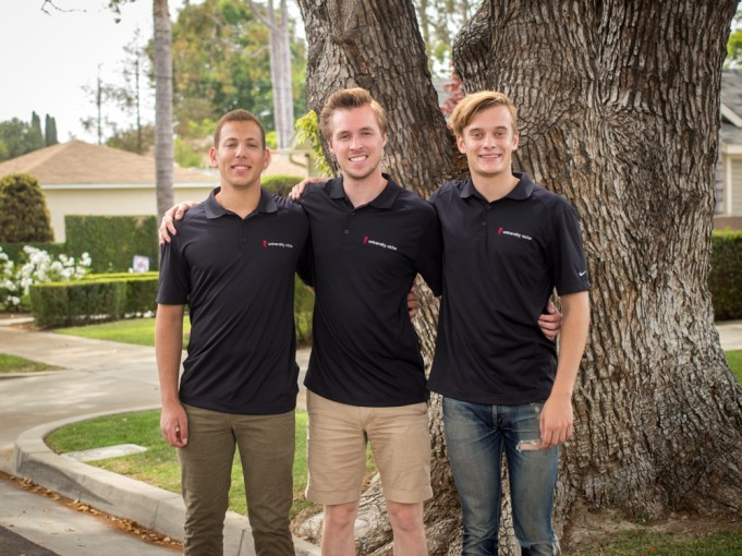 Three male Chapman students, the creators of the housing website
